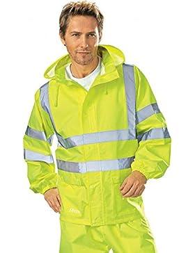 Terratrend Job 60832-s-9000tamaño pequeño alta visibilidad lluvia chaqueta–amarillo–P, amarillo, 60832-3XL...