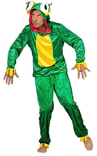 W5625-48-A grün-gelb Herren Frosch Kostüm Froschkönigs Anzug - Frosch Prinz Und Prinzessin Kostüm