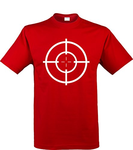 Klamottenkiste24 Herren T-Shirt, Zielscheibe/Target, rot, Gr. ()