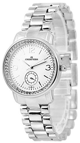 Armbanduhr Damen JORDAN KERR Swarovski Steine Schmuckschließe + BOX, ZJ262R61G/1