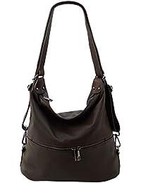 d8bff04205f6d Freyday 2in1 Handtasche Rucksack Designer Luxus Henkeltasche aus 100%  Echtleder
