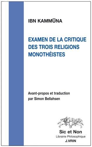 Examen de la critique des trois religions monothéistes