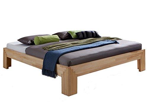 Massivholzbetten selber bauen  Massivholz-Bett Selina 160 x 200 cm aus Kernbuche, Holzbett, als ...