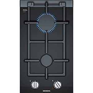 Siemens ER3A6BD70 hobs Negro Integrado Encimera de gas – Placa (Negro, Integrado, Encimera de gas, Vidrio y cerámica…