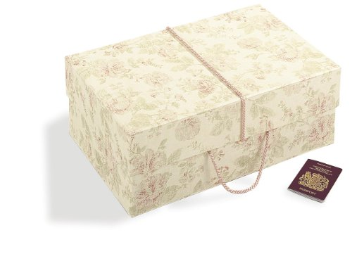 TRAVEL BOX FOR WEDDING DRESS (Antique Pink Design - MAXI SIZE - 55cm x 35cm x 20 cm) by Wedding...
