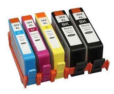 12XL Cartuchos de impresora con chip compatible para HP 364X L, Photosmart 5510, 5511, 5512, 5514, 5515, 5520, 5522, 5524, 6510, 6512, 6515, 6520, 7515, B010a, B109a, B109d, B109F, B109N, B110a, B110C, B110e, Photosmart Plus B209A, B209C, B210a, B210C, b210d, Deskjet 3070A, 3520, 3522, 3524, Officejet 4610, 4620 5er Set (2x Schwarz & 1x je C/M/Y)