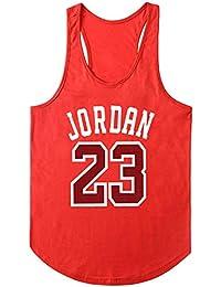 ec9bb86d07745 Summer Man S Jordan 23 Camisetas de Manga Corta con Cuello en v de Hombre