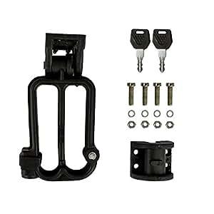 Autofy Universal W-Shaped Helmet Security Lock/Helmet Holder for All Bikes