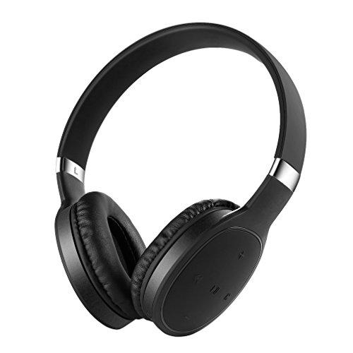 ACEHE Bluetooth 4.1 Kopfhörer Wireless Ohrhörer Headset Headphones Over-Ear On Ear Stereo mit MIC für iPhone, iPad, iPod, Laptop und MP3-schwarz -