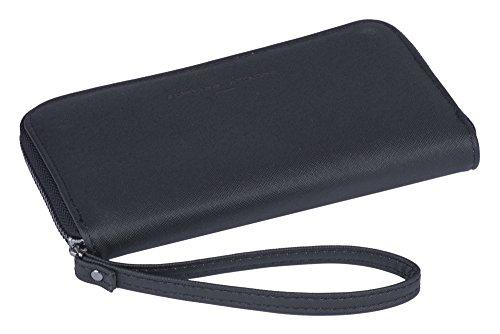 Adrienne Vittadini Batterielade-Portemonnaie mit Trageschlaufe: Smartphone Zip-Portemonnaie mit Handytasche Power Bank Ladegerät für Damen (Adrienne Vittadini Tasche)