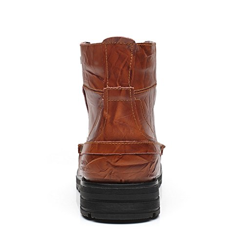 XiaoYouYuBoots - Stivali Combat uomo Light Brown with Fur