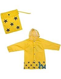 Hibote Kids Cute Cartton Raincoat Chirldren de senderismo Poncho
