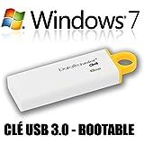 Windows 7 SP1 - Multiple éditions - Français - 32 & 64 bits - Clé USB 3.0 - 8 Go - Réinstallation, restauration, réparation