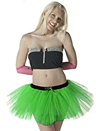 Crazy Chick Ladies 3 Layer Green Tutu Skirt ST. Patrick Fancy Dress Accessory