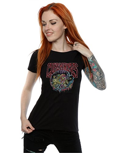 Guns N Roses Femme Band Of Skeletons T-Shirt Noir