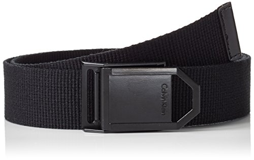 Calvin Klein Jeans Webbing Belt, Cintura Uomo, Nero (Black 001), 90 cm