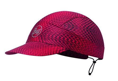 BUFF CAP avec Visière et 98% UV Protection, Polyester, one size Rouge