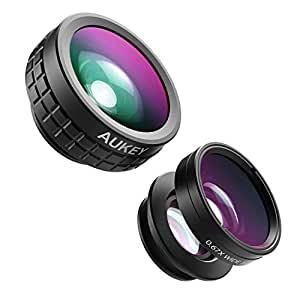Aukey 3 In 1 Clip-On Cell Phone Camera Lens Kit For iPhone And Android Smartphones