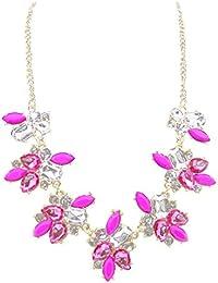 Personalisiert Geburtsstein Halskette Anhänger Elemente Kristall Vincenza UK