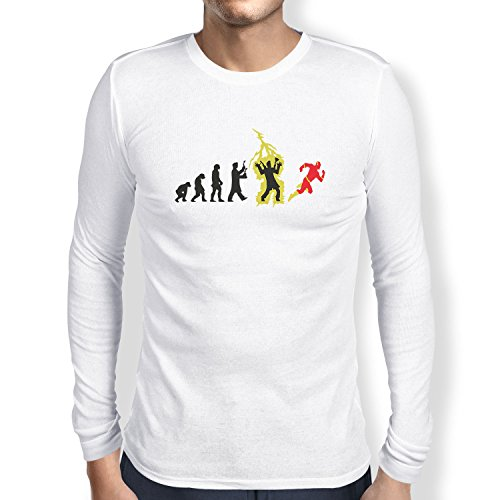 lution - Herren Langarm T-Shirt, Größe XXL, Weiß (Speedster Kostüme)