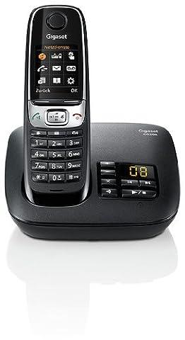 Gigaset C620A Telefon - Schnurlostelefon / Mobilteil - Farbdisplay / Dect-Telefon - Anrufbeantworter / Freisprechen - Analog Telefon schwarz