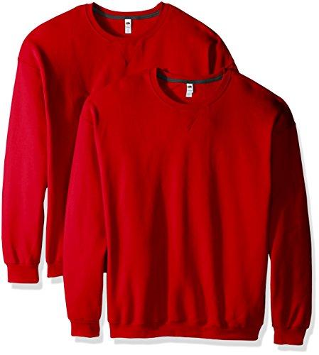 fruit-of-the-loom-mens-crew-sweatshirt-2-pack-fiery-red-large