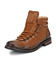 Alberto Torresi Mens Tan Bernardo Synthetic Boot - 10 Uk