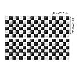 AKLIGSD Pegatina De Azulejo 3D Mosaico Blanco Y Negro, 20X20Cm / 24 Piezas. Papel Pintado Decorado Baño Restaurante Cocina Hotel