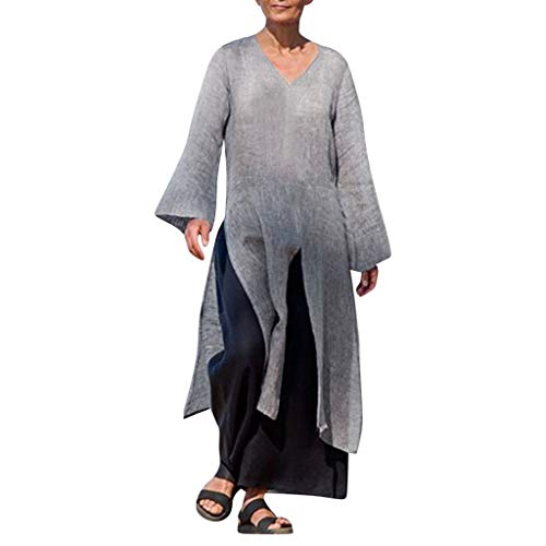 BOLANQ Damen Sommerkleider Spitze Kleid Strandkleid Swing Boho Kleid ()