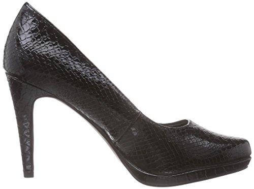 Tamaris22448 - Scarpe con tacco chiuse donna Nero (Black - Schwarz (Blk Struct.Pat 010))