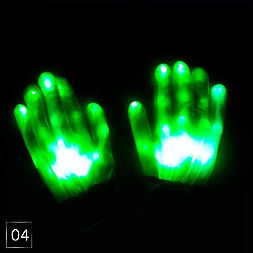 Teabelle LED Handschuhe Blinklicht up Full Finger Halloween Rave Party Kostüm Cool Beleuchtung Handschuh Colorful für Kinder Erwachsene ()