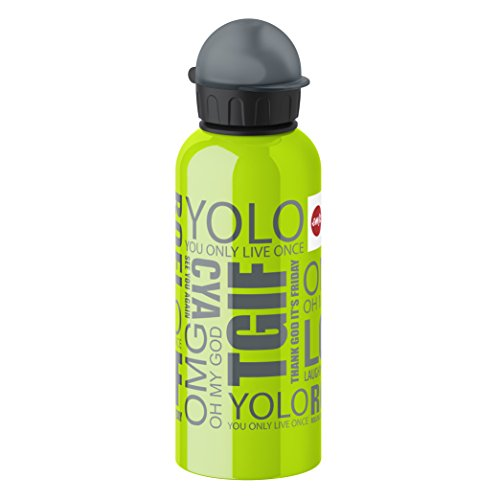 Emsa 514407 Kids drink flask, fruit acid resistant, BPA free, 600 ml, TGIF