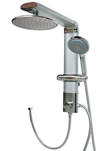 Pannello doccia in alluminio Pannello doccia Sistema doccia doccia argento rotonda doccia a pioggia doccia (Pioggia In Testa La Doccia Pannello)