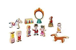 Janod Mini Story set de Figuras de madera, Circo (J08511)