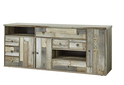 Stella Trading Bonanza Kommode, Holz, braun, (B/H/T) 193 x 80 x 48 cm