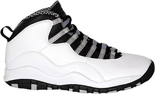 Nike Air Jordan Retro 10, Scarpe da Basket Uomo White