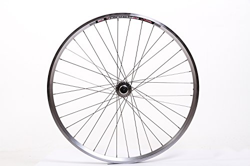 """28"""" Zoll Fahrrad Vorderrad 36 Loch Aluminium Felge vorn 622-19 Disc silber"""