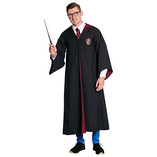Harry Potter Zauberer Gewand Gryffindor Robe Kostüm Rot Schwarz - L