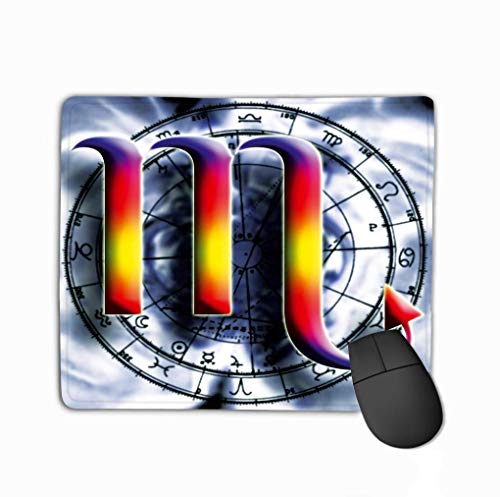 Family Mouse Pad,Standard Size Rectangle Non-Slip Rubber Mousepad 11.81 X 9.84 Inch Astrological Sign Scorpio