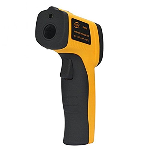 divinext Non-contact IR Infrared Digital Sensor LED Backlight Laser Pointer Thermometer Temperature Gun (Yellow and Black)