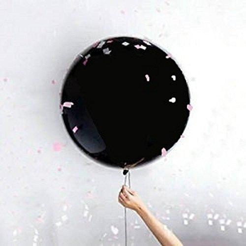 lloon mit 10m weißem Ballonband (Konfetti Gefüllte Ballons)