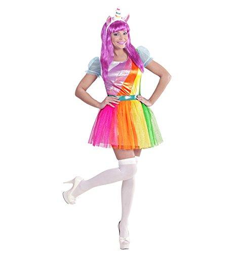 Imagen de disfraz de unicornio arcoíris para mujer