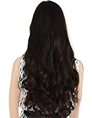 Pema Hair Extensions And Wigs D-Divine Women's Natural Curly/Wavy Hair Extension (Brown)