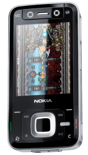 Nokia N81 UMTS Handy SD silver-dark grey
