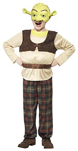 Smiffys Kinder Shrek Kostüm, Gepolstertes Top, Hose und Maske, Shrek, Größe: M, 20490 (Herren Shrek Kostüm)