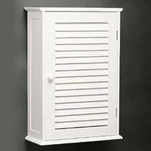 shutter armoire murale salle de bain blanc. Black Bedroom Furniture Sets. Home Design Ideas