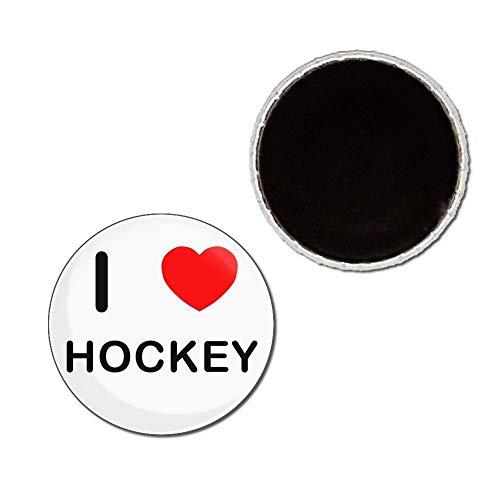 I Love Hockey - 25mm Anstecker Kühlschrankmagnet