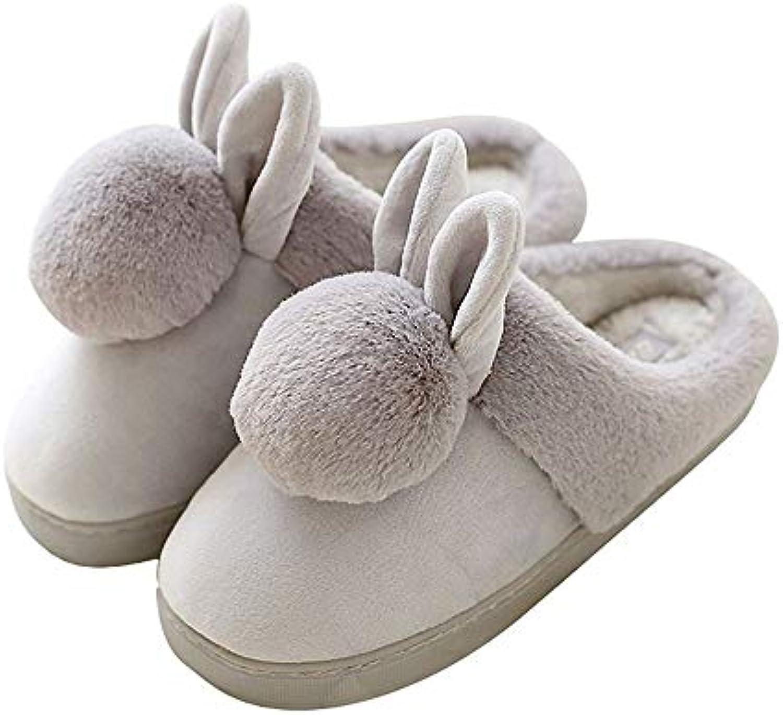 SHUNTONG Pantoufles de Warm coton Autumn and Winter Package Heel Warm de Home Cartoon Shoes WoHommes 's Cotton Slippers Gray...B07KKBSTCPParent 327fa1