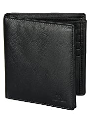 Aditi Wasan Genuine Leather Black Mens Wallet