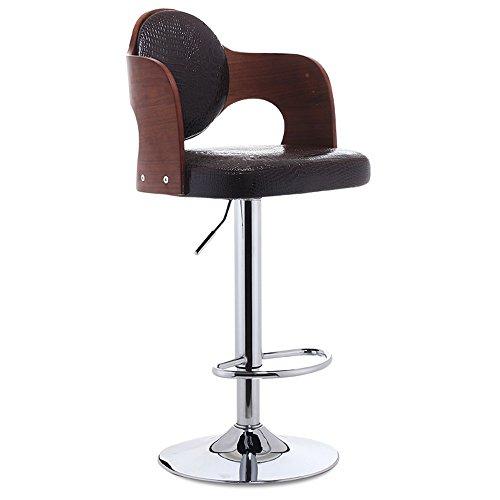 Home bequemer Klappstuhl Hocker Hölzerner hoher Hocker-Stab-Küche-Frühstücks-Esszimmer-Stuhl kann auf und ab / Swivel Geschäft Hall-Mode-Stuhl für Familie und Geschäft chair and stool ( Farbe : #2 ) (Swivel Hocker Küche)